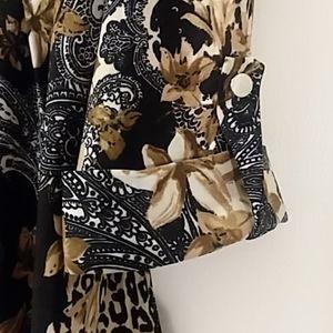 COCOMO DRESSBARN Tops - COCOMO DRESSBARN NWT blouse animal print Large